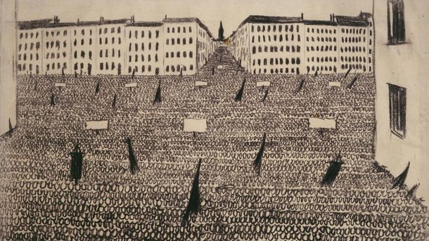 Werner Heldt, Meeting (Parade of the Zeros), 1933-1935
