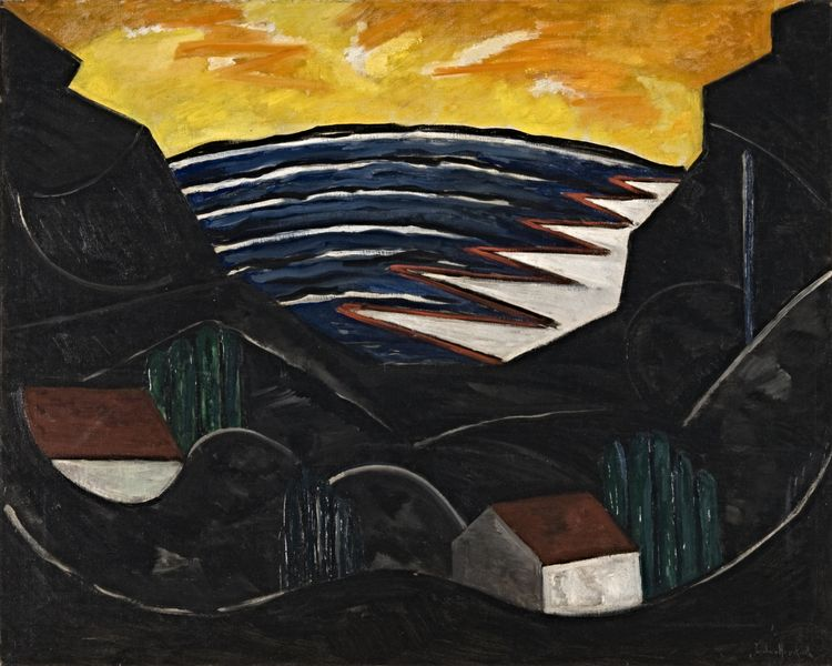 Jacoba van Heemskerck, Landscape, Painting I, around 1914