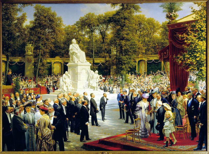 Anton von Werner, Unveiling of the Richard-Wagner-Monument in the Tiergarten, 1908