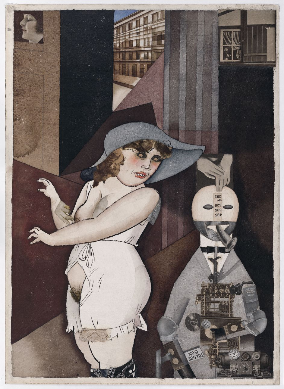 "George Grosz, ""Daum"" marries her pedantic automaton ""George"" in May 1920, John Heartfield is very glad of it, 1920"
