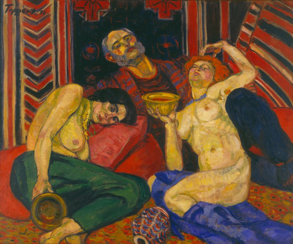 Expressionist painting by the painter Georg Tappert from 1911