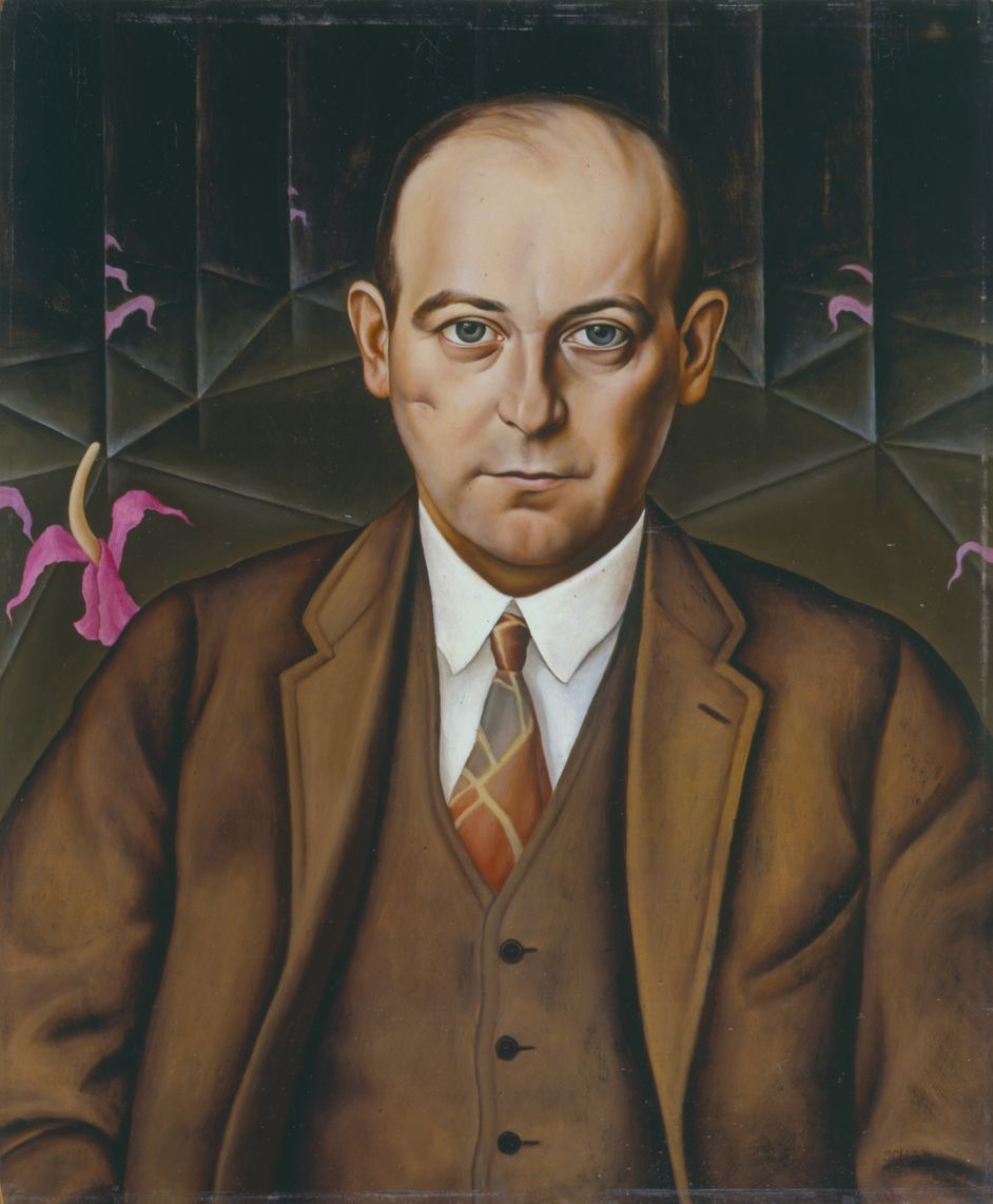 Christian Schad, Portrait of the Writer Ludwig Bäumer, 1927